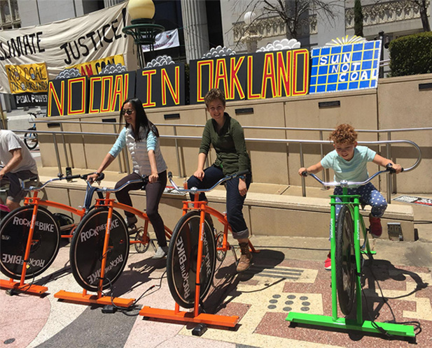 All Souls youth generate energy with people power at a No Coal in Oakland protest