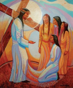 Station 9 Jesus meets the women of Jerusalem Title unknown, Lakota Artist, Pine Ridge Indian Reservation, South Dakota