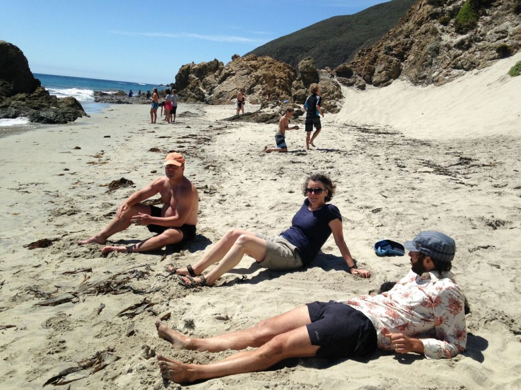 Beach lounging Big Sur