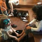 kids footwashing