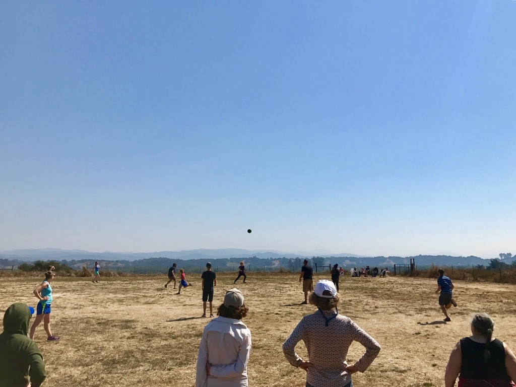 retreat kickball game