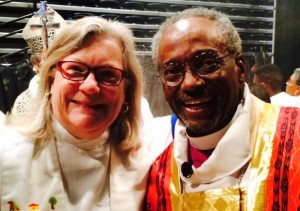 Michael Curry and Gay Clark Jennings