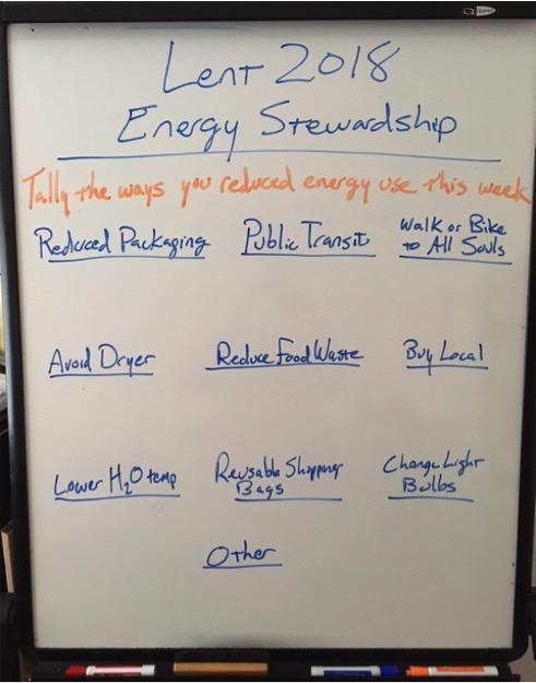 lent energy stewardship