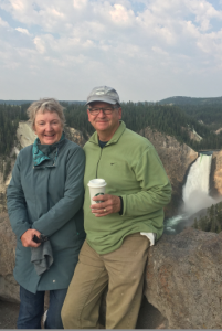 Pat and Don at Yellowstone falls