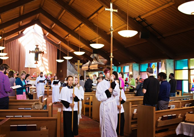 Acolytes procession out