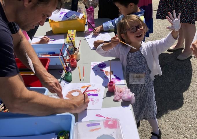 summer sunday school painting