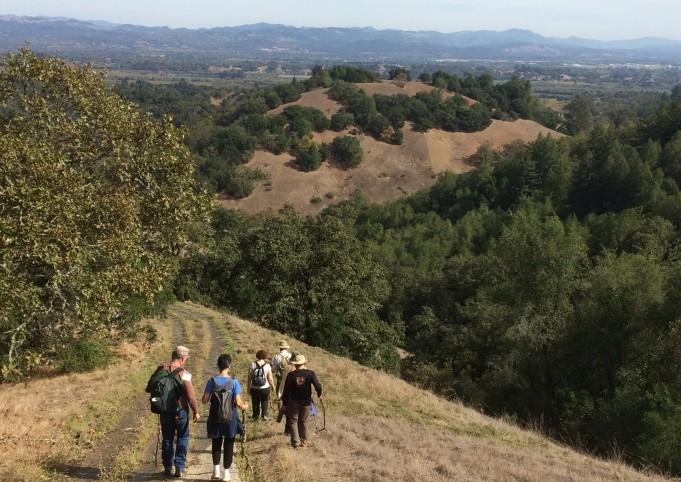 hiking at the bishops ranch